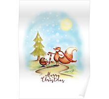 The Hedgehog and the Fox at Christmas Poster