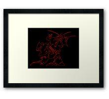 °FINAL FANTASY° Final Fantasy VI Neon Logo Framed Print