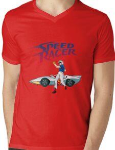 speed racer Mens V-Neck T-Shirt
