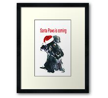 Scottie Dog Pup 'Santa Paws is coming' Framed Print