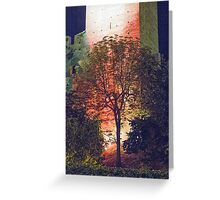 walls of castle at night Greeting Card