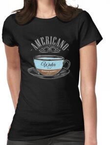 Americano Coffee Womens Fitted T-Shirt
