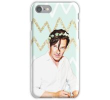 Benedict Cumberbatch- Blue and Gold Chevron iPhone Case/Skin
