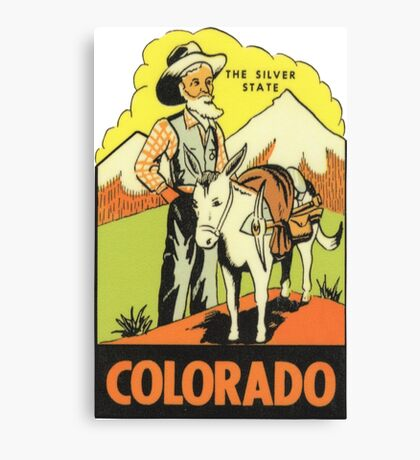 Colorado CO State Vintage Travel Decal Canvas Print