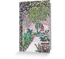 Val's Beautiful Garden - Kerry Beazley Greeting Card