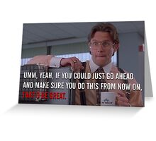 Office Space Greeting Card