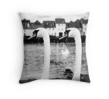 Galway Swans  (Long Walk) Throw Pillow