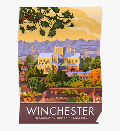 Winchester, the Cathedral from Saint Giles Hill Poster