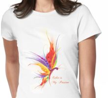 Colour is My Passion Colourful Butterfly Womens Fitted T-Shirt