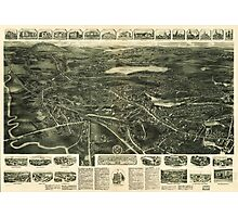 Aero View of Canton, Massachusetts (1918) Photographic Print