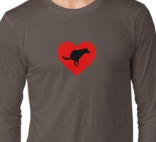 Dog Poop Heart Long Sleeve T-Shirt