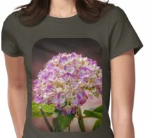 Hydrangea - textured Womens Fitted T-Shirt