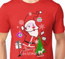 Merry Christmas Cute Santa by Francisco Evans ™ Unisex T-Shirt