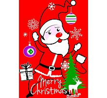 Merry Christmas Cute Santa by Francisco Evans ™ Photographic Print