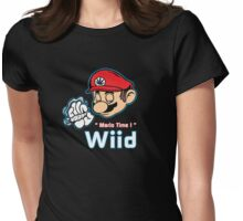 Mario - Mario Time ! Red Variant Womens Fitted T-Shirt