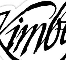 Kimber logo - black Sticker