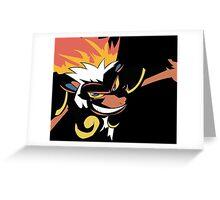 Infernape in Darkness Greeting Card