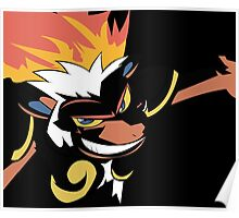 Infernape in Darkness Poster