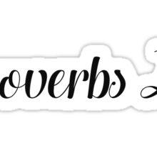 Proverbs 24 Sticker