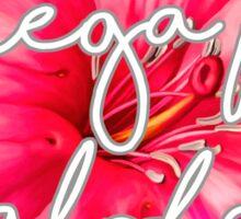 Omega Phi Alpha Flower Sticker