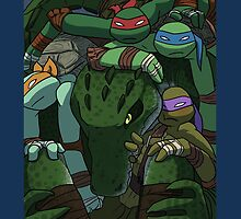 TMNT in the box (color) by MomoRawrr