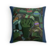 TMNT in the box (color) Throw Pillow