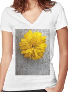 Sun . Women's Fitted V-Neck T-Shirt