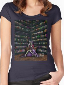 The Ghoul in the Study Women's Fitted Scoop T-Shirt