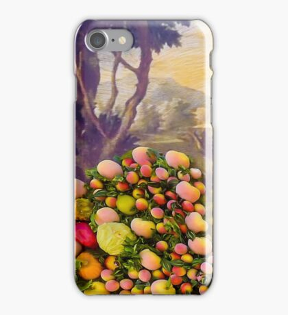3D Fruits, vegetables and a landscape with an owl iPhone Case/Skin