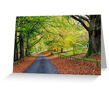 Mote Park in Autumn Greeting Card
