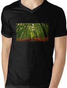 Bamboo Forest Mens V-Neck T-Shirt