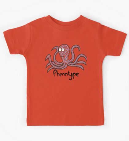 Blue-squared octopus Kids Tee