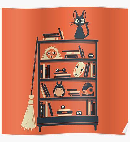 Ghibli shelf Poster