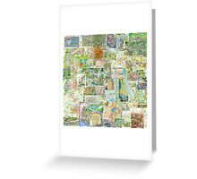 69 Maps Greeting Card