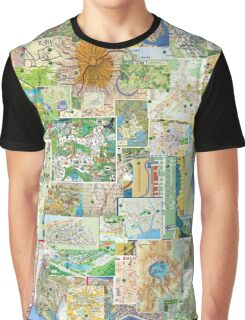 69 Maps Graphic T-Shirt