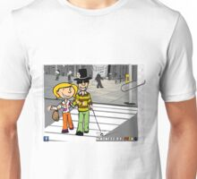 Be kind by helping a blind person Unisex T-Shirt