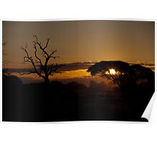 Sunset Over The Kruger Poster