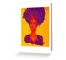 Black Woman Power  Greeting Card