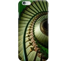 Spiral staircase in green iPhone Case/Skin