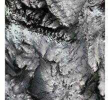 Glacier Bay National Park Clouds Alaska Satellite Image Photographic Print