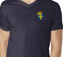 Swedish King Emblem Mens V-Neck T-Shirt