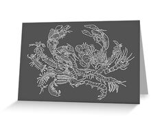 Crustaceans Evolution Tree of Life (Inverted) Greeting Card