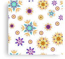 Abstract floral seamless pattern design Canvas Print
