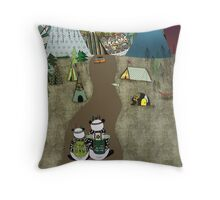 Camping is the answer Throw Pillow