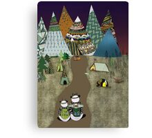 Camping is the answer Canvas Print