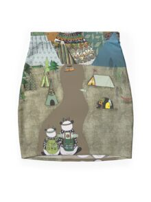 Camping is the answer Mini Skirt