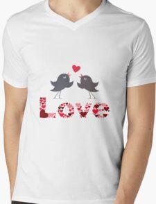 Bird of love Mens V-Neck T-Shirt