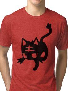 Litten Black Tri-blend T-Shirt