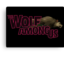 The Wolf Among Us - Logo and Bigby V2 Canvas Print