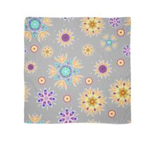 Abstract floral pattern with yellow flowers on gray Scarf
